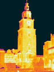 IR image of Ratuszowa tower